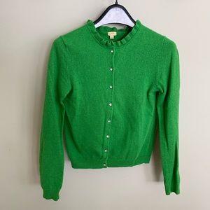 J. Crew Factory Green XS Cardigan Sweater